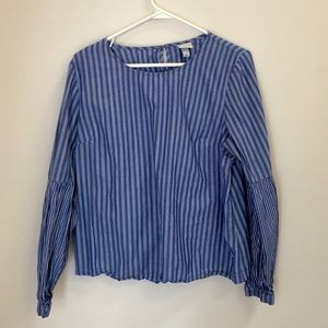 Target Striped Blouse Size Large